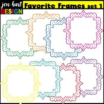 Frames Clip Art {Favorite Frames Set 1}