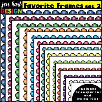 Frames Clip Art {Favorite Frames Set 2}