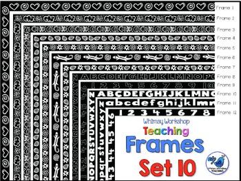 Frames Clip Art Set 10 - Whimsy Workshop Teaching