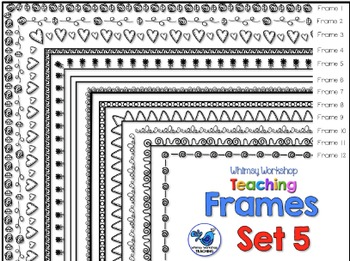 Frames Clip Art Set 5 - Whimsy Workshop Teaching