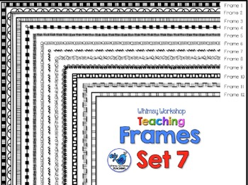 Frames Clip Art Set 7 - Whimsy Workshop Teaching