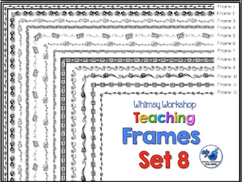 Frames Clip Art Set 8 - Whimsy Workshop Teaching