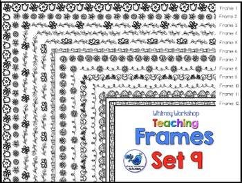 Frames Clip Art Set 9 - Whimsy Workshop Teaching