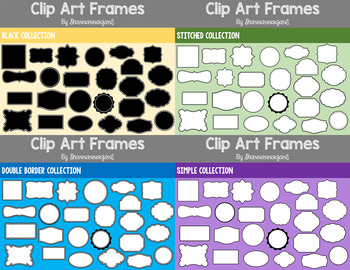 Frames Clipart - Bundle - Commercial/Personal Use