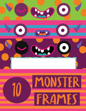Frames Clipart- Monster Themed Frames {School Clipart} or