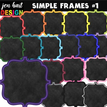 Frames Clipart (Simple Frames #1}