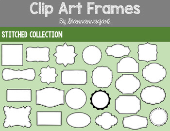 Frames Clipart - Stitched Collection - Commercial/Personal Use