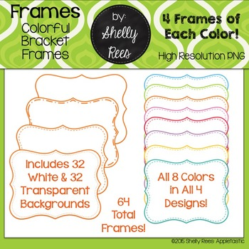 Frames - Colored with White & Transparent Backgrounds