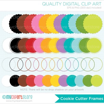 Frames - Cookie Cutter / Scalloped Frames / Round Frames / Bright