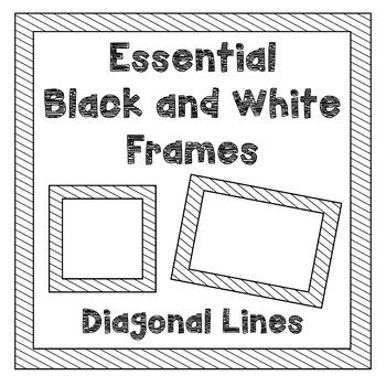 Borders/Frames-Diagonal Lines