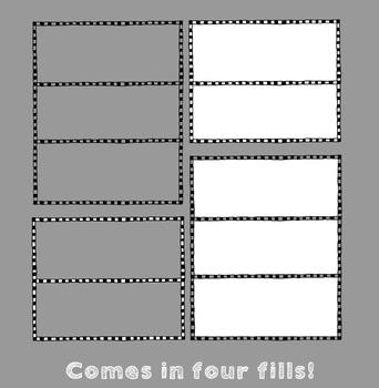 Frames ~ Doodle Frame Set ~ Checkered {Ink n Little Things Clip Art}