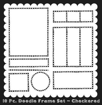 Frames ~ Doodle Frame Set ~ Checkered {Ink n Little Things