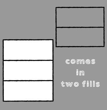 Frames ~ Doodle Frame Set ~ Thick Lines {Ink n Little Things Clip Art}