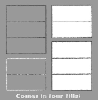 Frames ~ Doodle Frame Set ~ Thin Lines {Ink n Little Things Clip Art}