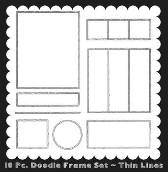Frames ~ Doodle Frame Set ~ Thin Lines {Ink n Little Thing
