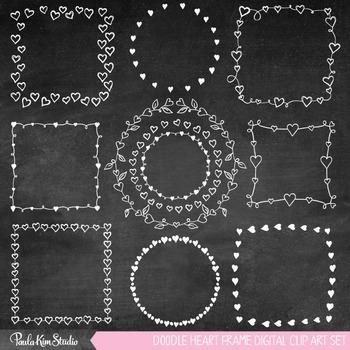 Frames - Doodle Hearts