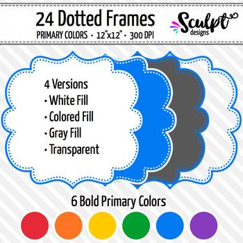Frames ~ Dotted Frames ~ Bold Colors