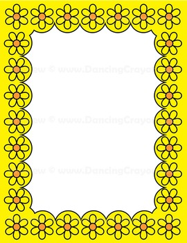 Clip Art Flower Frames and Borders