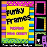 Fun and Funky Frames   Bright and Colorful Borders Clip Art