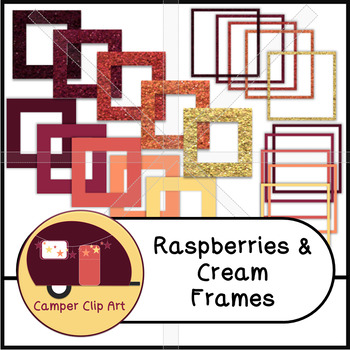 Frames Glitter and Solid Raspberries and Cream {CU - ok!} Pinks