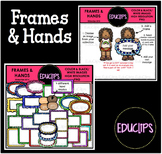 Frames & Hands Clip Art Bundle {Educlips Clipart}