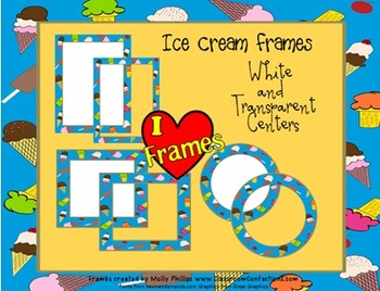 Frames/Borders {Commercial Use Ice Cream Clip Art Frames}