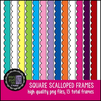 Frames: KG Basic Scalloped Square Frames