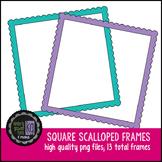 Frames: KG Basic Scalloped Square Frames