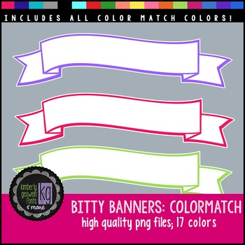 Frames: KG Bitty Banners