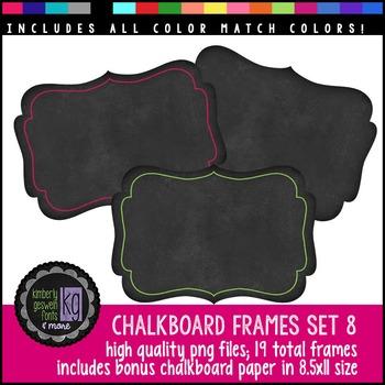 Frames: KG Chalkboard Frames Set Eight