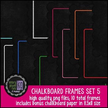 Frames: KG Chalkboard Frames Set Five
