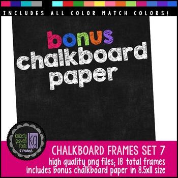 Frames: KG Chalkboard Frames Set Seven