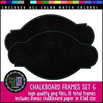 Frames: KG Chalkboard Frames Set Six