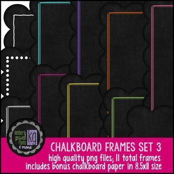 Frames: KG Chalkboard Frames Set Three