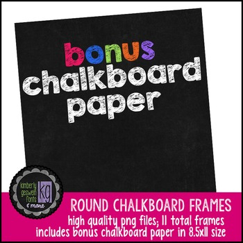 Frames: KG Round Chalkboard Frames (Set Two)