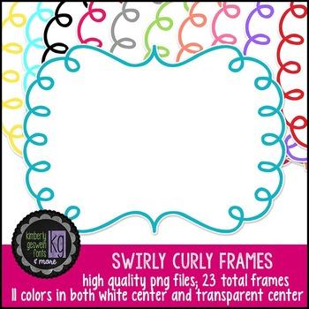 Frames: KG Swirly Curly Frames