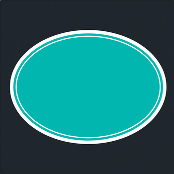 Oval Frames & Labels – Commercial – Many colors!