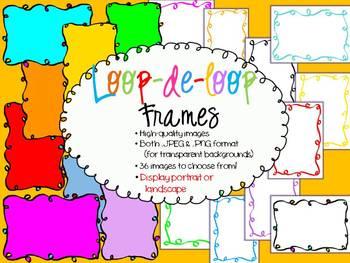 Frames -  Loop-de-Loop Clipart - Personal & Commercial use