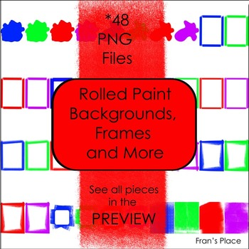 Frames, Papers, Borders and more Clip Art~ Rolled Paint Effect