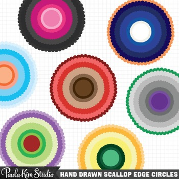 Frames - Perfectly Imperfect Scallop Circles