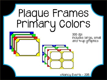 Frames - Plaque (primary colors)
