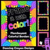 Colorful Clip Art Frames and Borders | Clipart Set