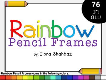 Frames: Rainbow Pencils