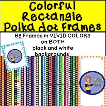 Frames - Rectangle Bright Polka dot