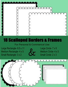 Free Frames- Scalloped Frames & Borders