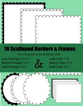 Free Frames- Scalloped Frames & Borders