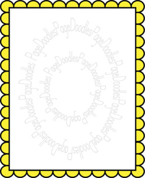 Frames, Scalloped, for TPT Sellers - High Quality Vector Graphics