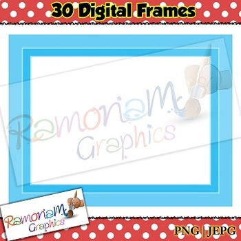 30 png and jpeg digital frames
