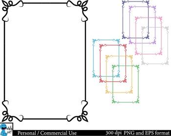 Frames Set Clipart Digital Clip Art Graphics 9 images cod2