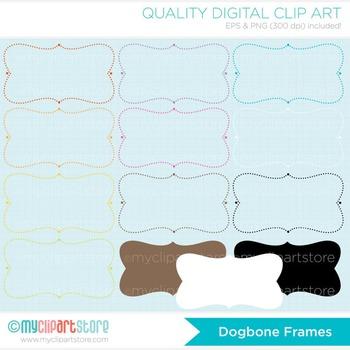 Frames - Shabby Chic / Dog-Bone Shaped Frames